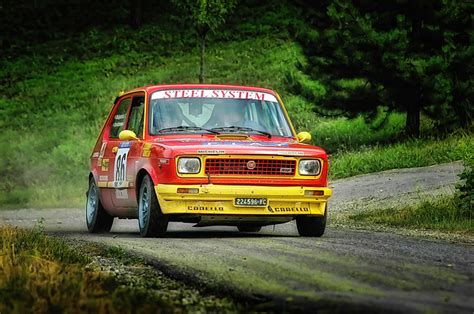 Tshirt Fiat 127 Bdc yellow and fiat 127 photograph by alain de maximy