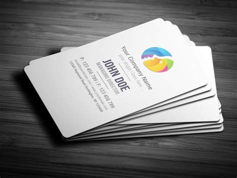 Free Round Edge Business Card Template Free Download Freebiesjedi Edge Business Card Template