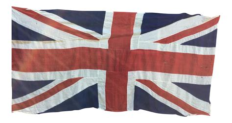"Vintage ""Union Jack"" British Flag   Ship Flag   Chairish"