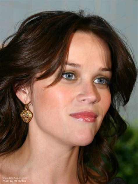 Vanity New York Brunette Reese Witherspoon With Layered And Rolled Hair