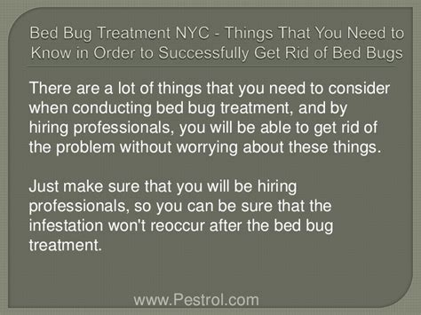 Bed Bugs Treatment Nyc by Bed Bug Treatment Nyc Things That You Need To In