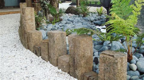 Garden Decor With Stones Garden Decor Extraordinary Garden Landscaping Decoration Using River Garden Decor