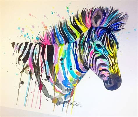 watercolor tattoo zebra cool montly watercolor zebra in smudges design