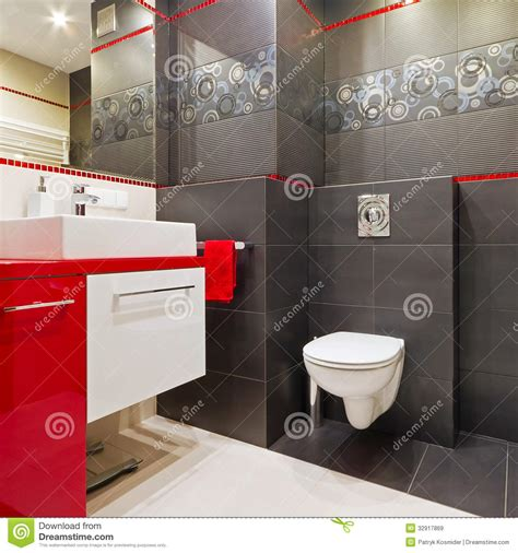black red white bathroom modern bathroom interior royalty free stock images image