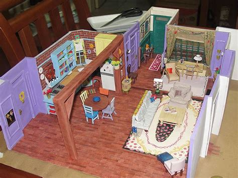 monica s apartment friends monica s apartment from friends made out of paper people com