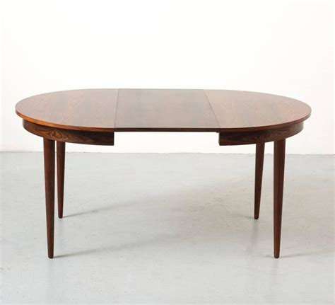 hans rosewood dining table with extension leaf