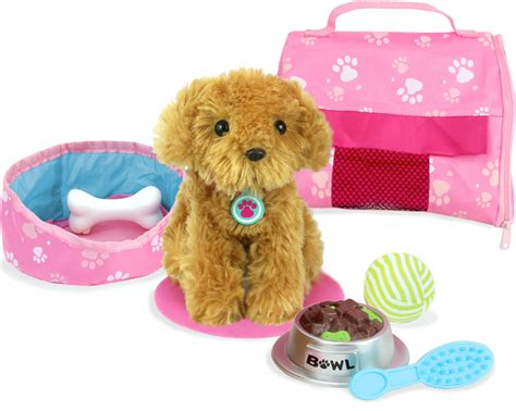 7 Dogs That Make The Best Accessories by Plush Puppy Carrier Accessory Set My Doll S