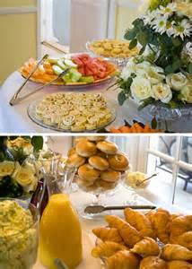 bridal shower brunch food table bridal shower