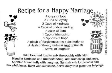 marriage recipe quotes for a bridal shower quotes for cards quotesgram