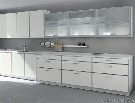 Modern Glass Kitchen Cabinets Pictures Of Kitchens Modern White Kitchen Cabinets Page 2