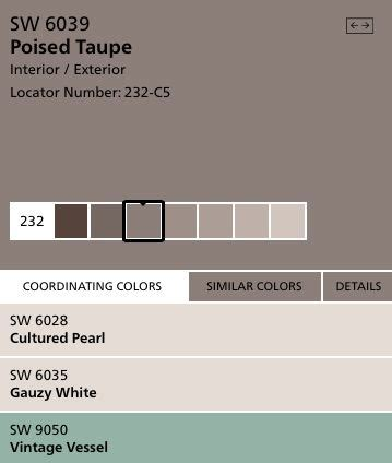 sherwin williams poised taupe color palette 1000 ideas about taupe bathroom on pinterest oak trim
