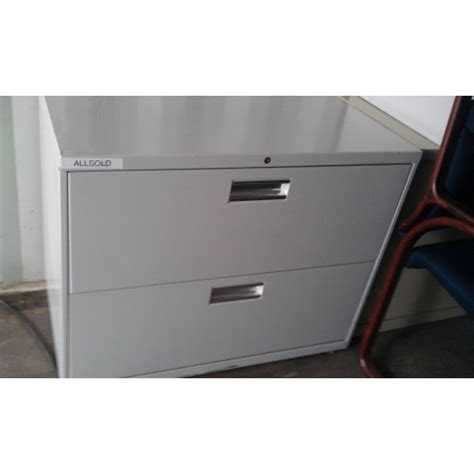 2 Drawer Lateral File Cabinet With Lock Hon 2 Drawer Lateral Grey Filing Cabinet 36x18x29 Locking Allsold Ca Buy Sell Used Office