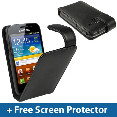 Casing Samsung Galaxy Plus S7260 Fullset black leather flip for samsung galaxy ace plus s7500 android cover holder ebay