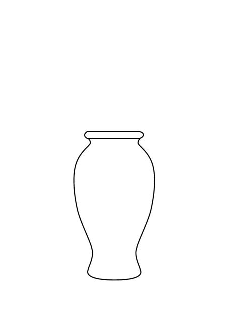 coloring page of a vase 1000 images about papercraft images5 flowers on pinterest