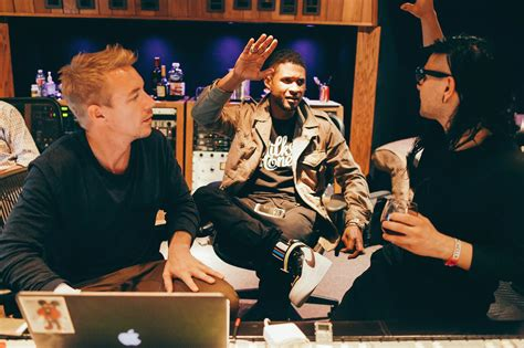 skrillex in the studio skrillex and diplo hit the studio with usher run the trap