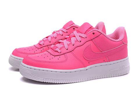 Sepatu Sport Nike Air One Hitam Pink Casual Wanita womens nike air 1 gs af1 pink pow white sport sneakers casual shoes 314219 615