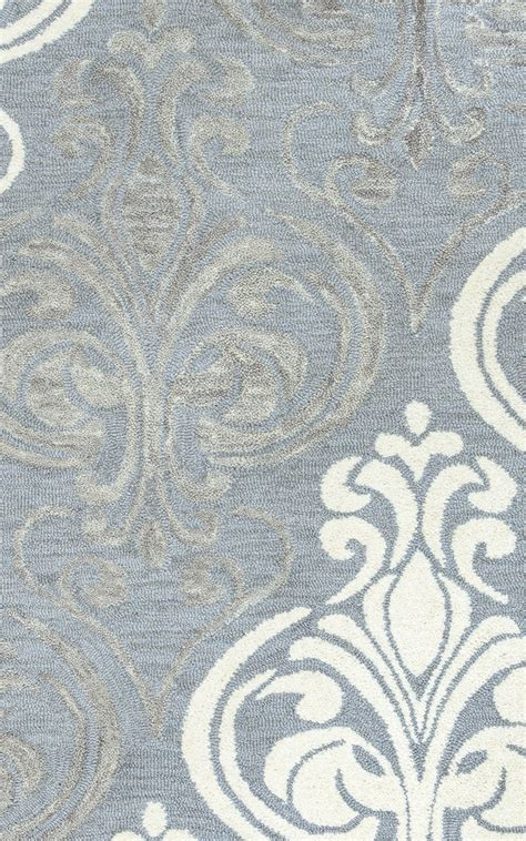 white and grey pattern rug lancaster crest pattern wool area rug in blue grey silver