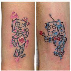 tattoo robot couple 1000 ideas about robot tattoo on pinterest tattoos