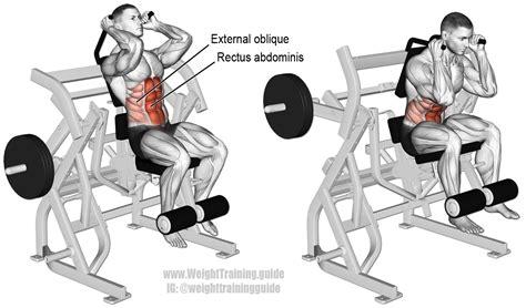 machine leg raise crunch and weight guide