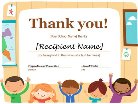 thank you certificate templates free word certificate template 51 free sles