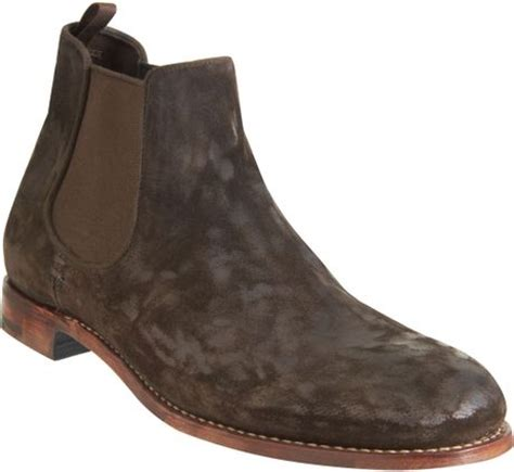 mens demi boots endless chelsea demi boot in brown for lyst