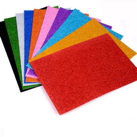 Glitter Craft Paper - glitter foam paper sheets kindergarten diy craft