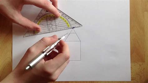 einfache ein zimmer haus pläne anleitung fluchtpunkt perspektive zeichnen fluchpunkt