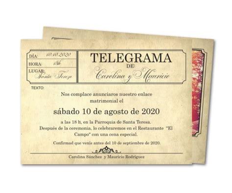 invitaciones de boda originales telegrama de bodas invitaciones de boda originales telegrama de bodas
