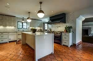 Backsplash For Sale by Saltillo Tile Light Gray Cabinets Wood Baseboards