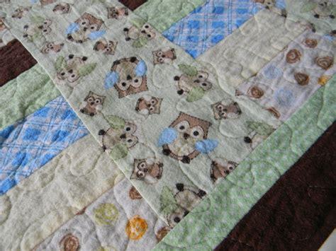Flannel Quilt Pattern by Craftopotamus Flannel Owl Baby Quilt