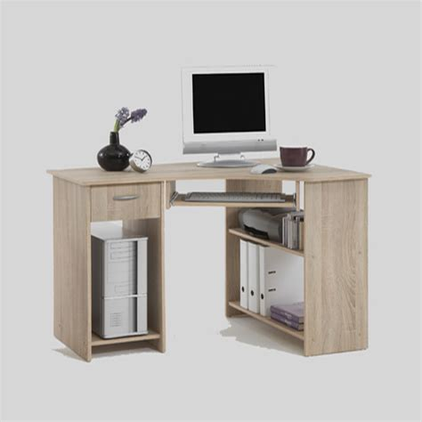 Wooden Corner Desks For Home Office Felix Home Office Wooden Corner Computer Desk In Oak 14765