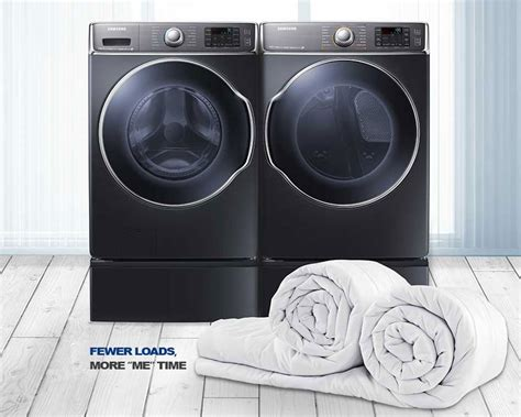 how big of a washer for a king comforter wf56h9100ag front load washer with smart care 6 5 cu ft