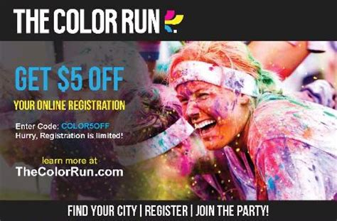 color run discount code color run discount code flash giveaway who said