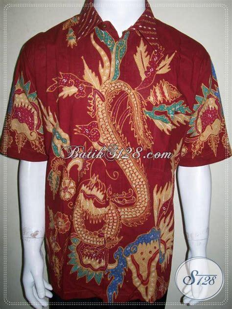 Batik Tulis Asli Naga jual kemeja batik naga merah batik tulis asli dijual ld848t xl toko batik