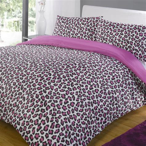 leopard bed set leopard pink black contemporary animal print duvet quilt