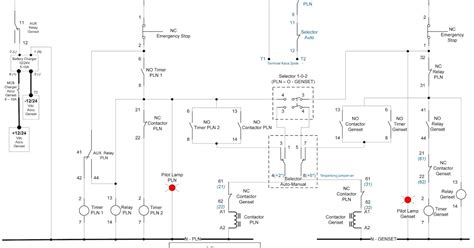 wiring diagram genset otomatis wiring get any cars and