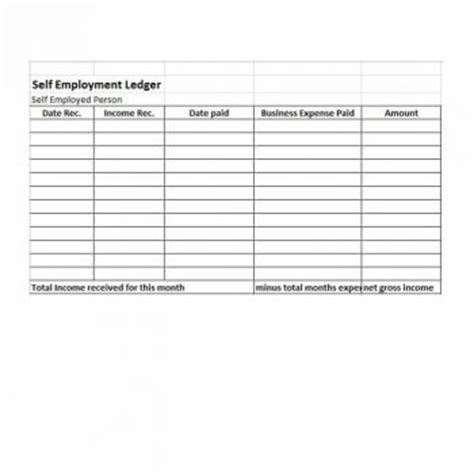 Self Employment Ledger 40 Free Templates Exles Self Employment Ledger Template Excel