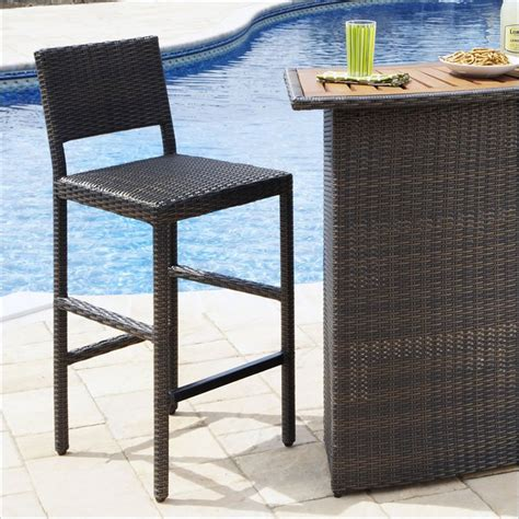 riviera outdoor woven bar stool in brown 5800 88