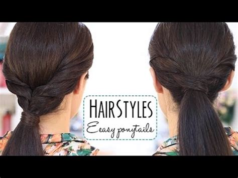 simple everyday hairstyles youtube easy ponytails youtube