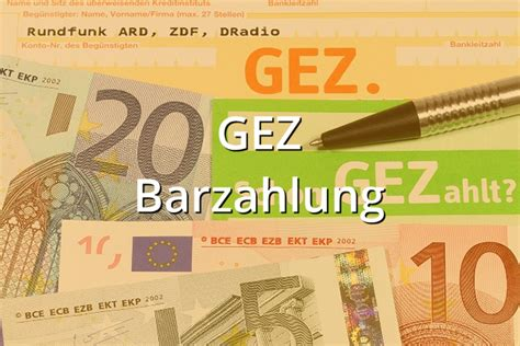 Musterbrief Gez 2015 Musterbrief Barzahlung Gez Musterix