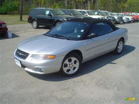 chrysler sebring 2000 convertible 2000 bright silver metallic chrysler sebring jxi
