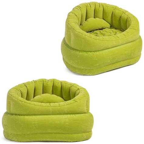 blow up armchair green inflatable air blow up arm chair couch sofa seat
