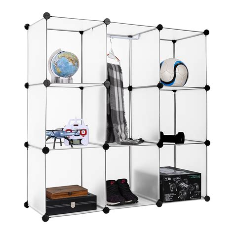 diy 9 cube portable closet clothes wardrobe rack storage