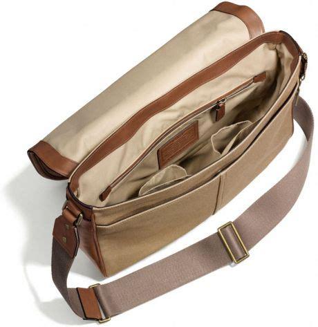The Coach Bleecker Tattersall Shopping Bag by Coach Bleecker Courier Bag In Brown For B4 Jute Fawn