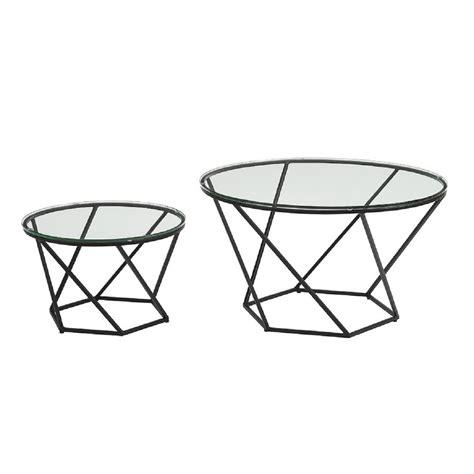 walker edison coffee table walker edison furniture company geometric glass nesting