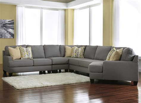 modern  piece sectional sofa   cuddler reversible seat cushions  signature design