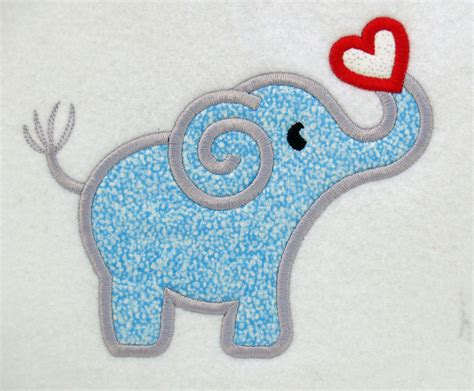 embroidery machine applique elephant and applique machine embroidery design