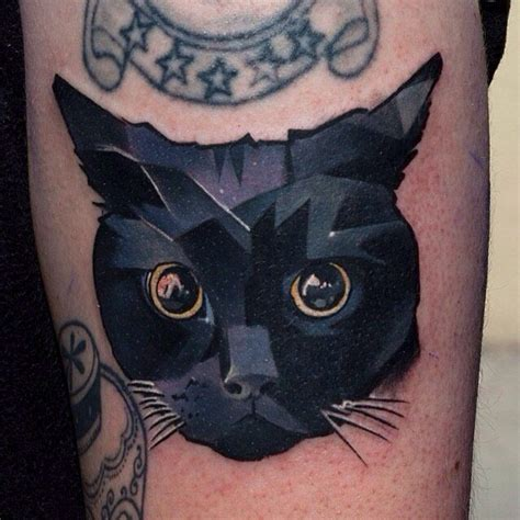 tattoo fixers cat face 25 best ideas about geometric cat tattoo on pinterest