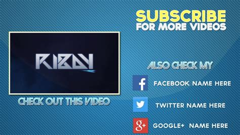 Cool Free 2d Outro Template After Effects Outro Template Youtube Outros Templates