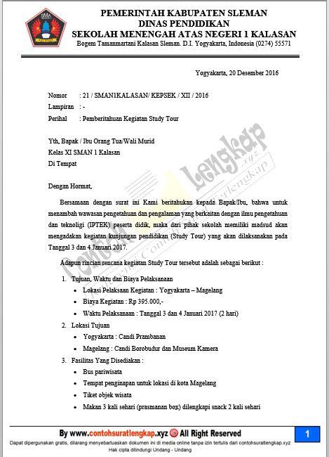 Contoh Bentuk Surat Edaran Kepala Sekolah Pada Bertemuco
